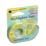 Lee Products Removable Highlighter Tape, 3W x 4L, Yellow
