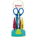 Maped USA Craft Scissors, Assorted Tips, 3 packs of 1 with 5 Assorted Patterns (MAP601005)