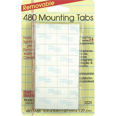 Miller Studio Removable Tabs, 1/2 x 1/2
