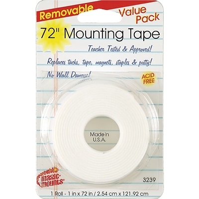 Miller Studio Remarkably Removable Magic Mounting Tape, 1 x 72, White