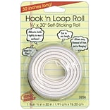 Miller Studio Hook n Loop Mounting Roll, 3/4 x 30, White