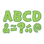 Teacher Created Resources Lime Polka Dots Fantastic Font 3 Magnetic Letters, 67 Pieces (TCR77215)