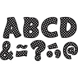 Teacher Created Resources Black Polka Dots Fantastic Font 3 Magnetic Letters, 67 Pieces (TCR77216)