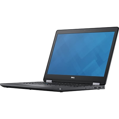 Dell™ Latitude 15 5000 E5570 15.6 Notebook, LCD, Intel i5-6300U, 180GB SSD, 8GB RAM, Windows 7 Pro, Black