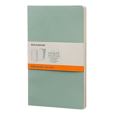 Hachette Books Ireland Moleskine Large Volant Journal, 5 x 8 1/4, Green (890501)