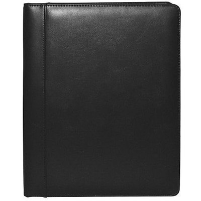 Buxton® Executive Leather Padfolio, Black