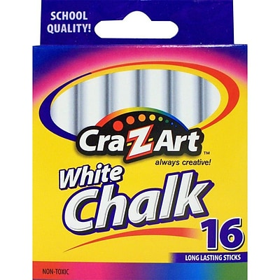 Cra-Z-Art School Chalk, White, 16/Box (10800-48)