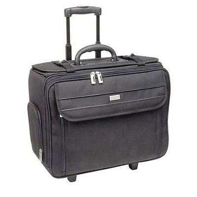 U.S. Luggage™ Rolling Computer Catalog Case with File Hanger