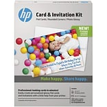 HP® Card and Invitation Kit, Rounded Corners, 5 x 7 (K6B84A)