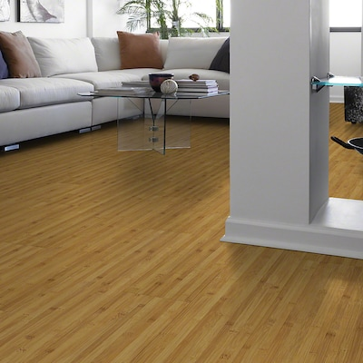 Shaw Floors Natural Impact Ii Plus 9.8mm Bamboo Laminate In Golden Bamboo