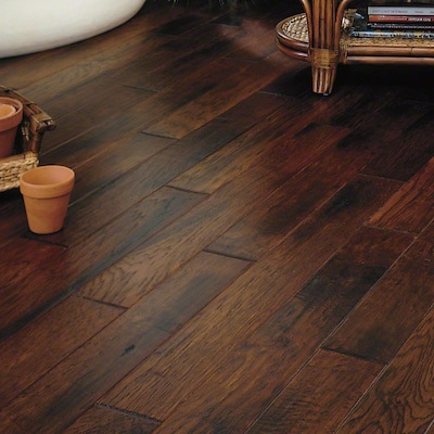 Anderson Floors Eagle Lodge 5'' Engineered Hickory Hardwood Flooring In Salt Creek