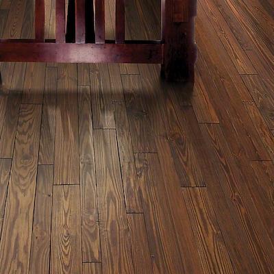 Anderson Floors Elements Random Width Solid Pine Hardwood Flooring In Clay