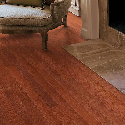 Anderson Floors Bryson Ii 4s Plank 3 1/4'' Solid Oak Hardwood Flooring In Cherry