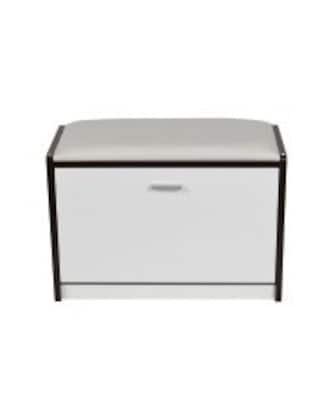 HomCom Storage Entryway Bench; Black/White