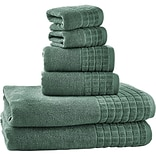 Bonita 100pct Egyptian Cotton Jacquard 6 Piece Towel Set; Dark Ivy