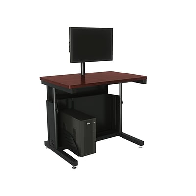 Versa Tables Adjustable Single User 36 x 30 Computer Desk Cherry  (SPB10436300102)