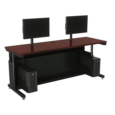 Versa Tables Adjustable Dual User 72 x 30  Computer Desk Cherry  (SPB10472300102)