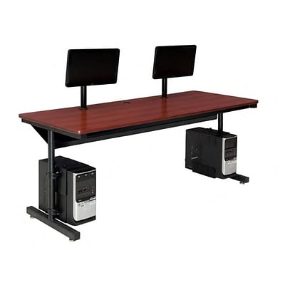 Versa Tables  Basic Dual User 60 x 24 Steel Frame, Laminated Wood  Computer Desk Cherry  (SPB10160240102)