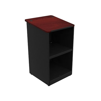 Versa Tables Classroom Podium  Black Steel Frame, Cherry Laminated Wood  (SP5030102)