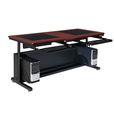 Versa Tables Downview Adjustable Leg Dual User 72 x 30  Computer Desk Cherry  (SP10572300102)