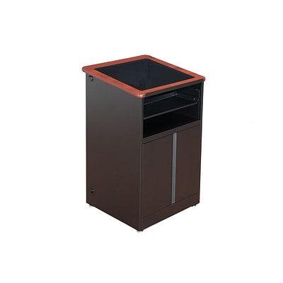 Versa Tables Podium Downview 48 Podium Black Steel Frame, Cherry Laminated Wood  (SP5010102)