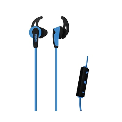 Naxa ne-937-b Sports Earphones with Mic; Blue