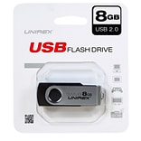 Unirex 8GB USB 2.0 Flash Drive (usfs-208)