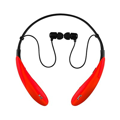 Supersonic iq-127bt-red Earbuds Headphones with Mic; Red