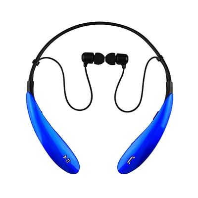 Supersonic iq-127bt-blu Earbuds Headphones with Mic; Blue