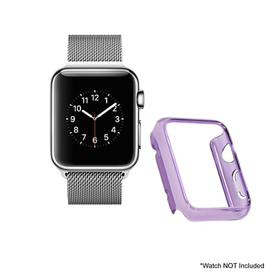 Mgear Accessories Polycarbonate Protective Cover; Purple (apple-watch-cover-pur)