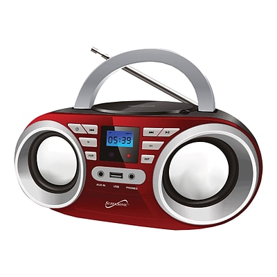 Supersonic Portable Audio System; 100 - 240 V, Red (sc-506-rd)