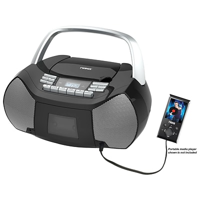Naxa npb-268 Boombox Portable CD/Cassette Player; Black