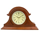 Bedford Mantel Clock with Chimes; Solid Mahogany Cherry Hardwood (bed1439chr)