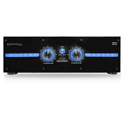 Technical Pro 2U Professional 2 Channel Power Amplifier; 110 - 220 V (amp8x)