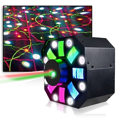 Technical Pro Professional DJ Multi Pattern Laser and LED Stage Effect Light with DMX; 110/220 V (lgmegax)