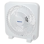 Impress 9 Box Fan; White (im-719)