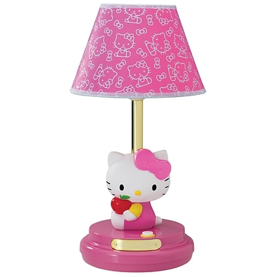 Hello Kitty Incandescent Table Lamp, On/Off Switch, Pink (kt3095ap)
