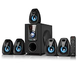 BeFree Sound Bluetooth Speaker System; bfs-400, 25 W & 10 W x 5, Blue
