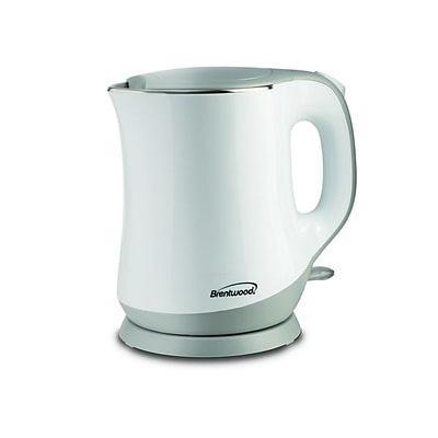 Brentwood White 0.343 gal Electric Kettle (kt-2013w)
