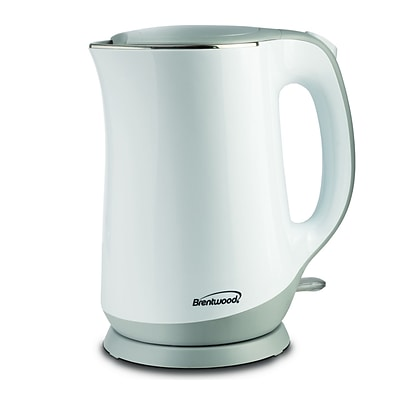 Brentwood White 0.449 gal Electric Kettle; (kt-2017w)