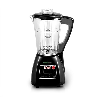 Nutrichef 3-in-1 Digital Electronic Soup CookerBlenderJuice Maker; Black (pksm240bk)