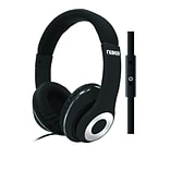 Naxa ne-943-black Over-Ear Headphones with Mic; Black