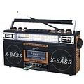 Supersonic sc-3200wd Retro 4 Portable Radio and Cassette Player; Brown