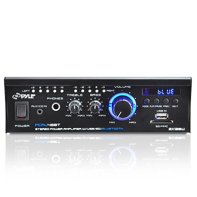 Pyle Dual Channel Power Amplifier; 240 W (pcau48bt)
