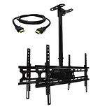 MegaMounts Tilt and Swivel Ceiling TV Mount with HDMI Cable; 100 lbs. (cmc246-hdmi-bndl)