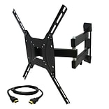 MegaMounts Full-Motion Wall TV Mount with HDMI Cable; 100 lbs. (gml643-hdmi-bndl)