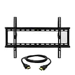 MegaMounts Fixed-Wall TV Mount with HDMI Cable; 120 lbs. (gmpf26n-hdmi-bndl)