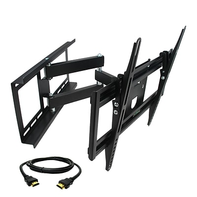 MegaMounts Full-Motion Wall TV Mount with HDMI Cable; 100 lbs. (gmw643-hdmi-bndl)