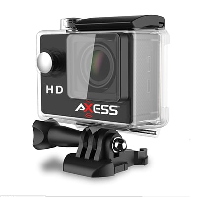 Axess CS3603-BK 5 MP Action Camera; 2.51 mm, Black