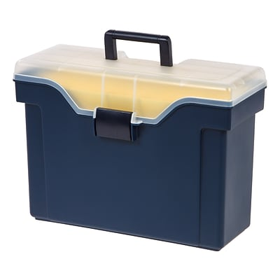 Quill Brand® Handy Plastic File Box; Legal